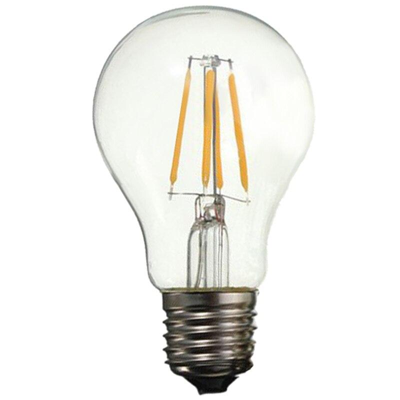 5x E27 A60 4W Edison Retro Vintage Filament COB LED Bulb Candle Light Lamp