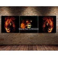 Animal Diamond Embroidery,Lion,Tiger,5D,Diamond Painting,Cross Stitch,paint with Mosaic 3pcs