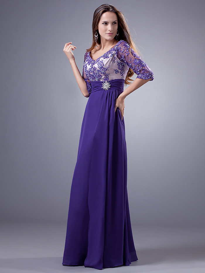 Vistoso Vestido De La Dama De Honor Modesta Ideas Ornamento ...