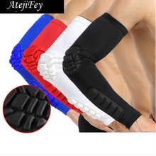 2 Pcs Sport Fitness Basketball Tennis Elbow Support Cycling No Slip Arm Sleeve Protector Gel Compression Quick Dry Pads