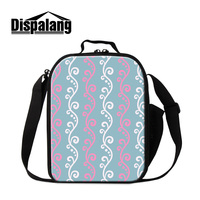 Dispalang 3d الطباعة الحرارية للماء أكياس الغداء للفتيات النساء المحمولة ونتشبوكس معزول برودة حقيبة للعمل بالجملة