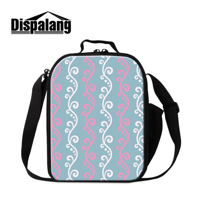 Dispalang 3d impresión térmica impermeable bolsas para chicas mujeres portátil refrigerador aislado bolsa de almuerzo lonchera de trabajo al por mayor