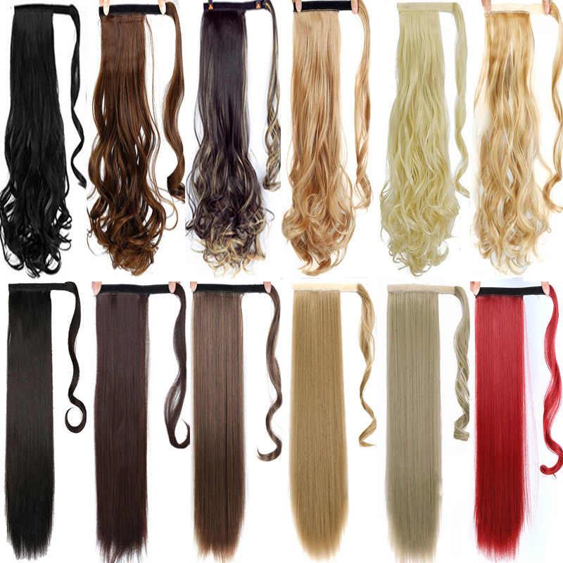 DIFEI Lange Krullend Clip In Haar Staart Valse Haar Paardenstaart Haarstukje Met Haarspelden Synthetisch Haar Pony Tail Hair Extension