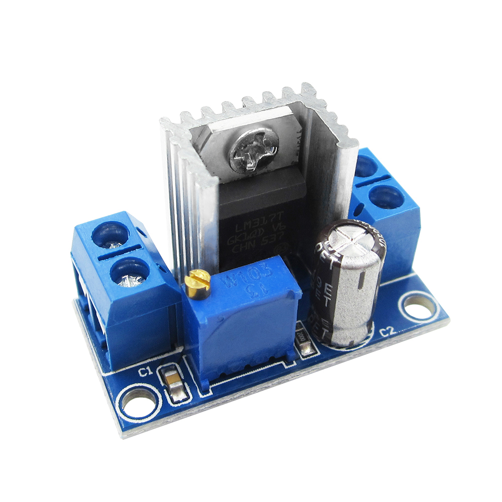 1PCS LM317 Adjustable Voltage Regulator Power Supply LM317 DC-DC Converter Buck Step Down Circuit Board Module Linear Regulator waterproof regulator module step up dc 10v 12v 18v to dc 19v 15a 285w for solar power system voltage converter transformer