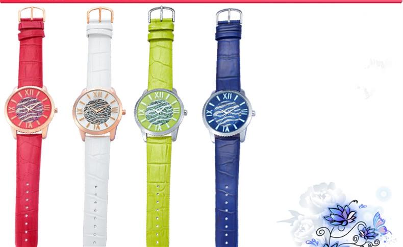 Nouveauté MELISSA cristal vague montres à la mode femmes en cuir robe Montre bracelet japon Quartz Reloj Feminino Montre F11795 - 6