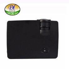 Todo el mundo Obtener Nuevo Proyector Portátil 120 Lumers 800*480 P LCD Tecnología Miracast Proyector Lente de Enfoque Manual con el Teléfono mini300 + Proyector