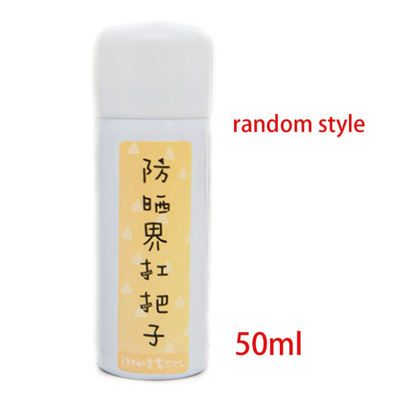 50ml Small Sunscreen Spray Travel Portable Ice Soothing Skin Can Spray Whole Body Face Apply