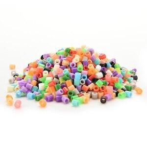 Image 1 - 5 мм Хама перлер предохранитель бусины 13 цветов 500 шт Железный бисер дети Сделай Сам игрушки для рукоделия