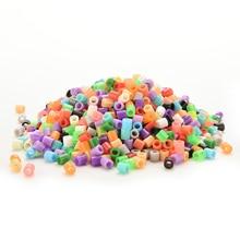 Cuentas de fusible hama perler de 5mm, 13 colores, 500 Uds., cuentas de hierro para niños, diy, manualidades, Juguetes