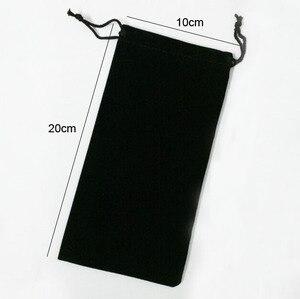 Image 2 - Sac en velours à cordon avec cordon, Rectangle noir/rouge/Rose/bleu/marron sacs demballage pour cadeaux de noël Logo imprimé 50 pièces/lot