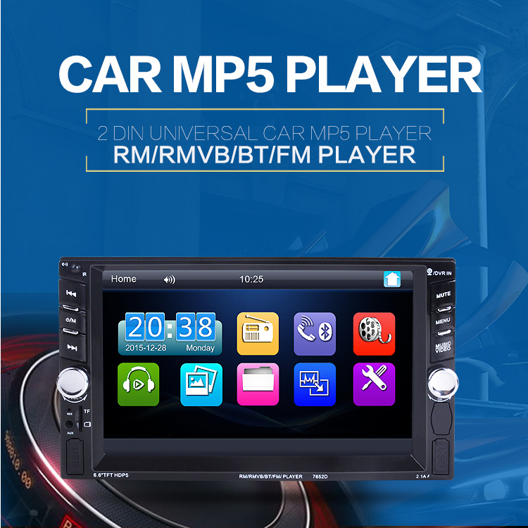 """6.6/"""" HD Touch Screen MP5 Bluetooth FM Radio Stereo Player /& Rear Camera Use Well"""