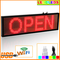 34cm P5 Smd Red WiFi LED sign indoor Storefront Open Sign Programmable Scrolling Display Board Multilingual function Tools