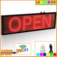 Barato Letrero LED rojo WiFi P5 Smd de 34cm para interiores tablero de visualización de desplazamiento programable