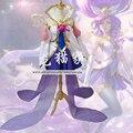 Lol janna star guardián de la tormenta furia cosplay traje traje con medias
