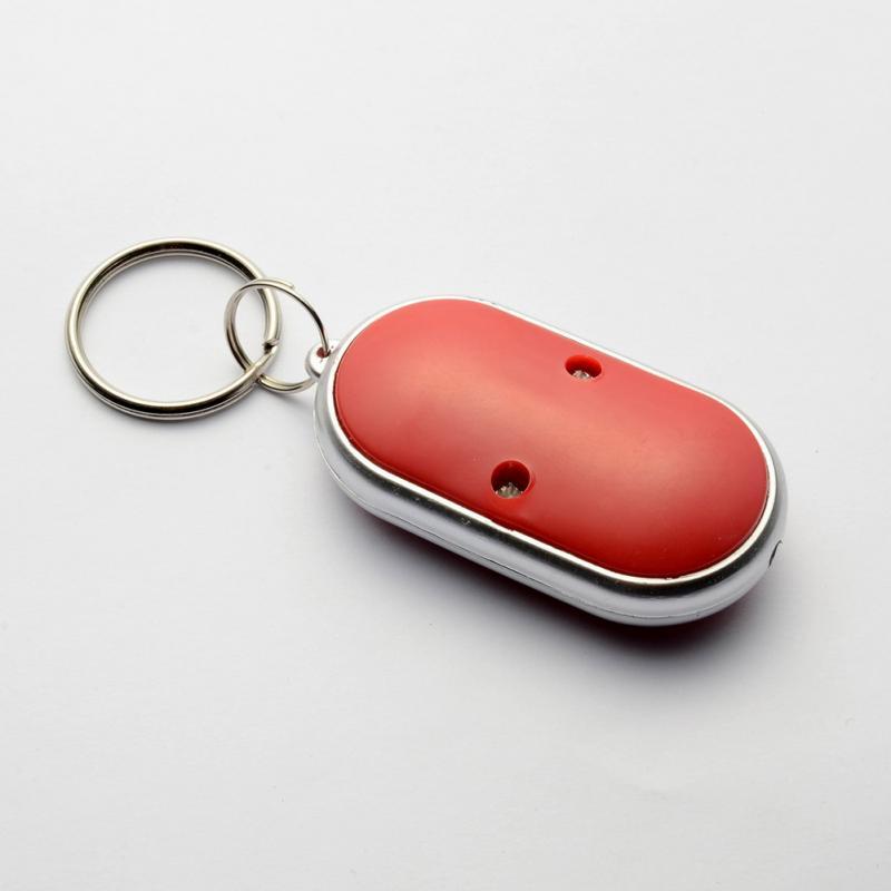 Smart Finder key Whistle Sensors White 1 PCS Keychain Sound LED With Whistle Cla