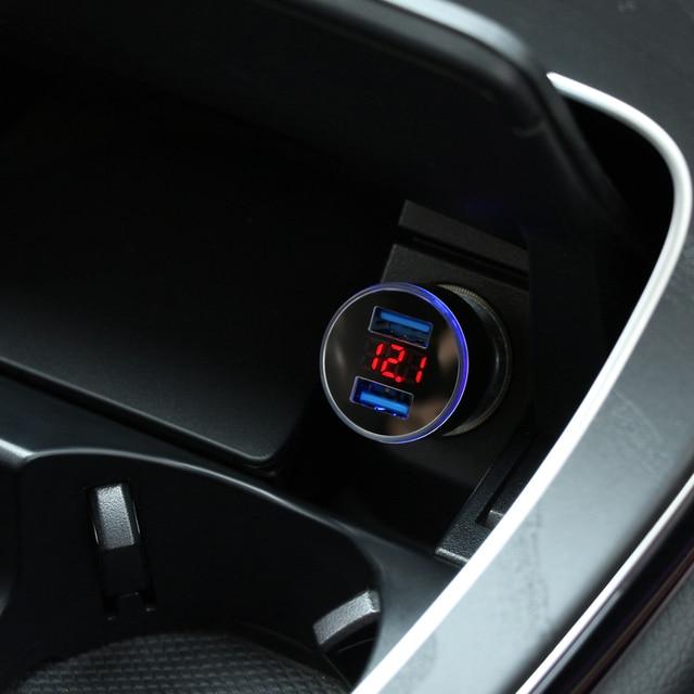3.1A 5V Sạc 2 Cổng USB Cho Xe Volkswagen Polo Touareg VW GOLF 7 6 5 T5 Passat B5 B6 CC Scirocco TIGUAN 2018 Phụ Kiện Xe Hơi