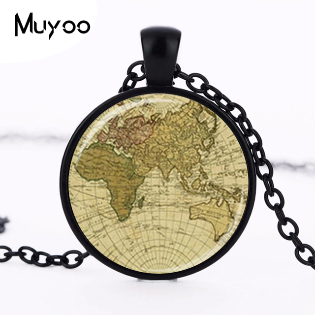 Vintage map pendant old world map necklace globe pendant map jewelry vintage map pendant old world map necklace globe pendant map jewelry travelers gift map lovers gift gumiabroncs Gallery