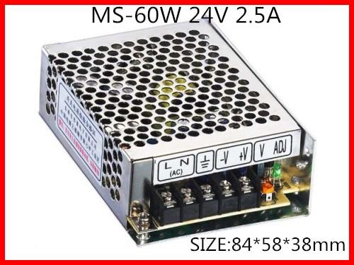 60W 24V 2.5A Compact Single Output Switching power supply for LED Strip light  AC-DC 1200w 48v adjustable 220v input single output switching power supply for led strip light ac to dc