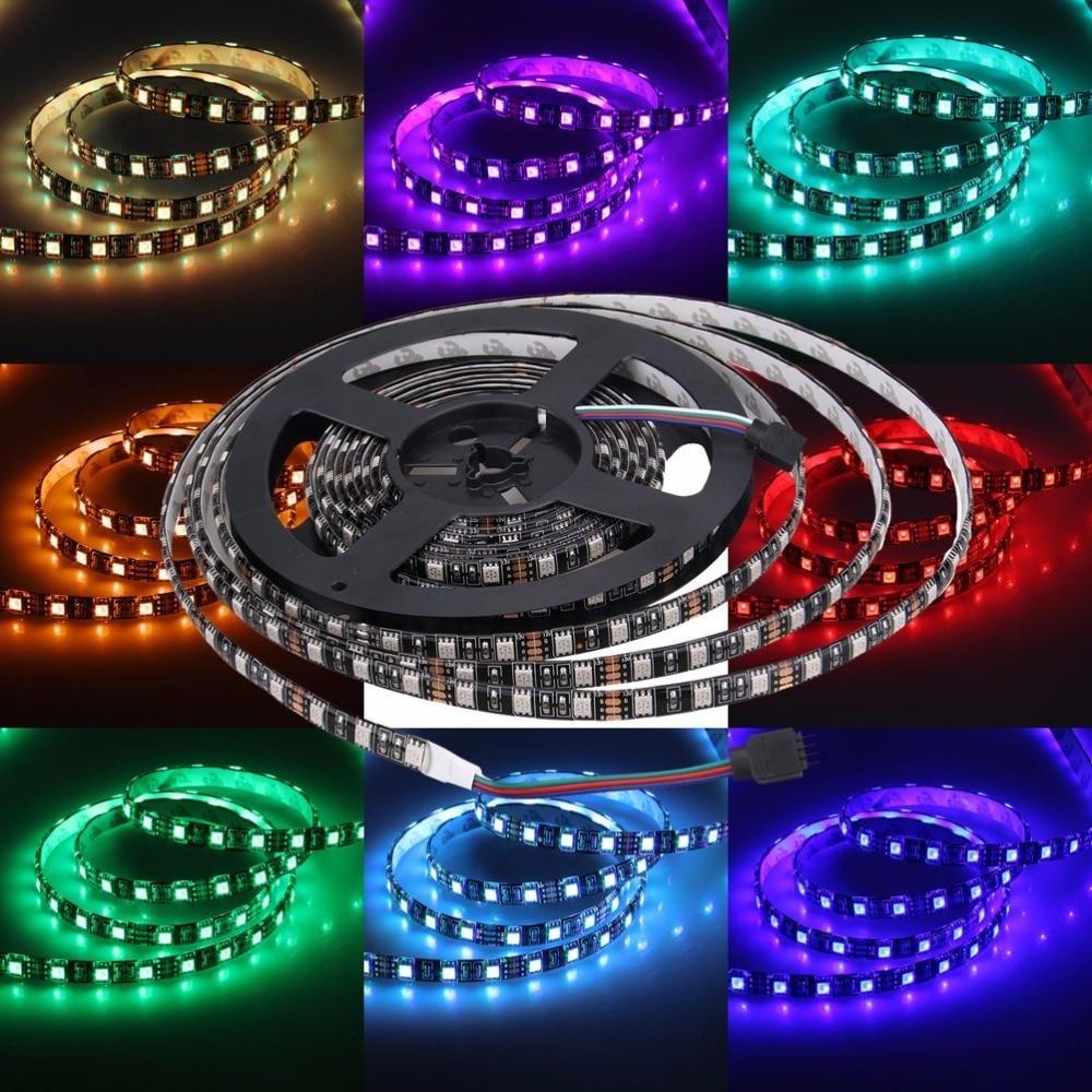 tira de luz led negro pcb 5050 impermeable ip65 300led 5m dc 12v - Iluminación LED - foto 3