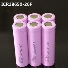 6 шт./лот Оригинальный 18650 3.7 В 2600 мАч Литий-Ионных батарей аккумуляторная Батарея ICR18650-26F безопасные аккумуляторы Промышленного использования