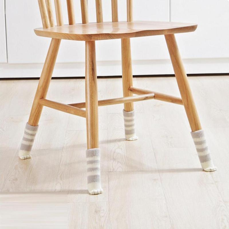 4pcs chair leg socks home furniture leg floor protectors non slip table legs sleeve cat claw. Black Bedroom Furniture Sets. Home Design Ideas