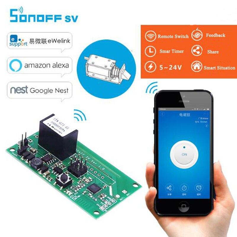 Inteligente sem Fio Módulo de Automação Itead Sonoff Wifi Interruptor Seguro Tensão 5-24 v dc Residencial Inteligente Apoio Desenvolvimento Secundário sv
