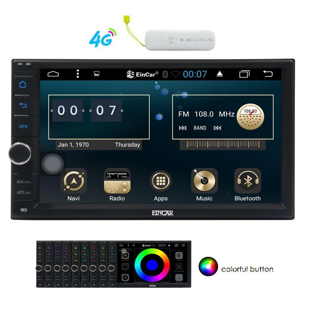 US $199 49 5% OFF|Android6 0 Double Din Car No DVD Player 7'' Multi Touch  Screen in Dash 2 Din GPS Navigation for Car Stereo Video Audio+4G dongle-in