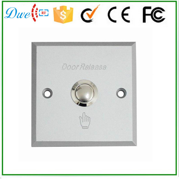 DWE CC RF Free shipping Aluminum alloy push exit button switch door release no nc for access control system dwe cc rf access control kits aluminum alloy silver door open push release switch with key