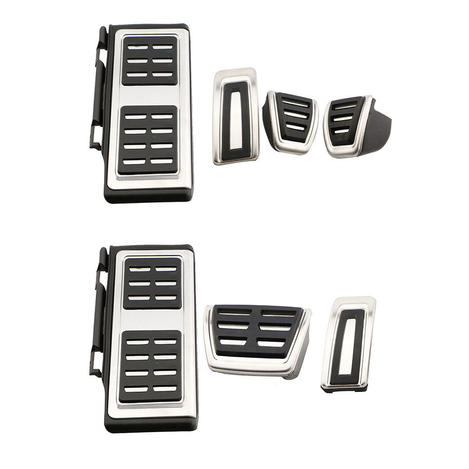 Jameo Auto font b Car b font Pedals Foot Fuel Brake Clutch Cover for Volkswagen VW