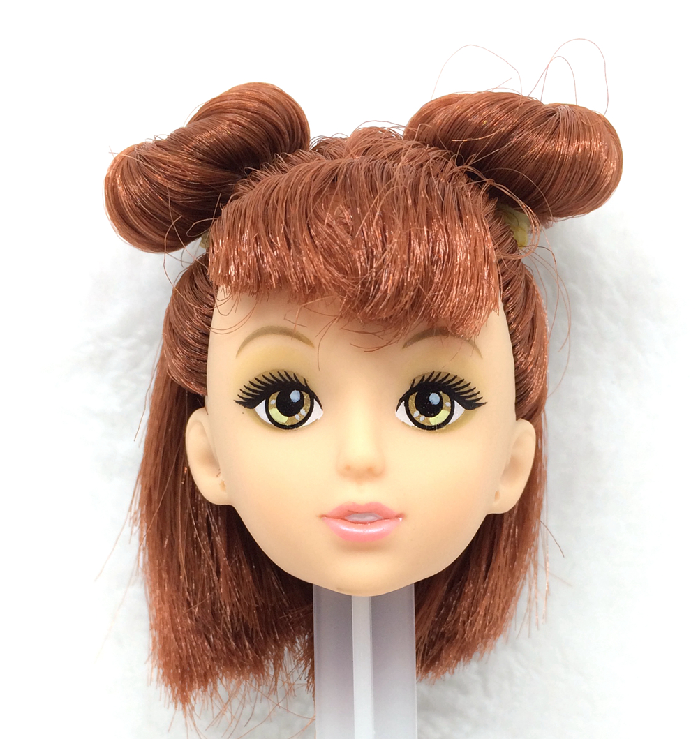 NK One Pcs Style Doll Head With Two Brown Braid Hair DIY Equipment For Barbie Kurhn Doll Finest Lady' Present Baby DIY Toys zero30B