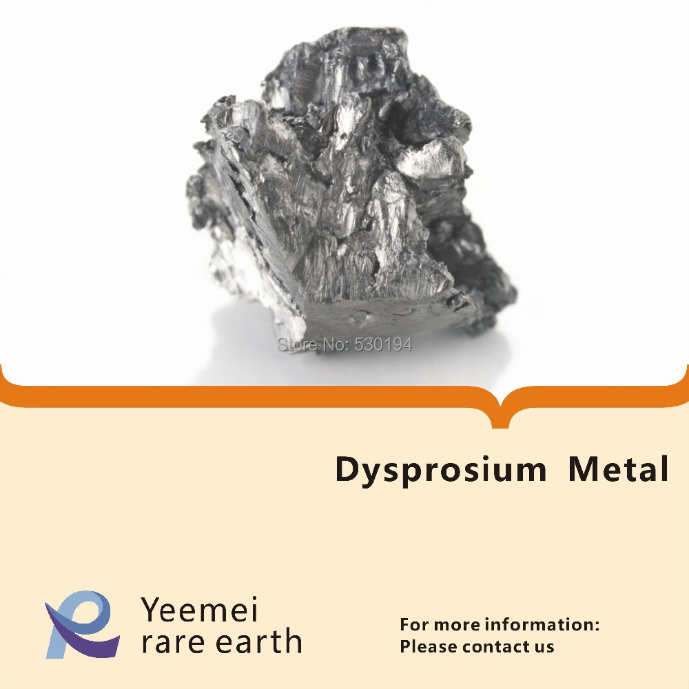 Rare earth metal -- 99.9% Dysprosium metal dysprosium metal 99 9% 5 grams 0 176 oz