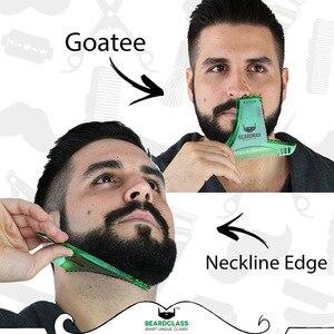 Image 3 - Beard Trimmers ผมแปรงโกนหนวด Beard Shaping จัดแต่งทรงผม Man Beard Trim แม่แบบตัด molding Hair clipper beard การสร้างแบบจำลอง