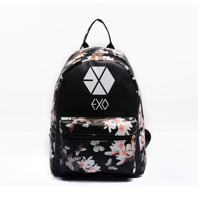 VEEVANV 2016 Korean Summer New Fashion Butterfly Flower Backpacks For Teenager EXO Bigbang GD MADE TOP BTS Backpacks Women Bags