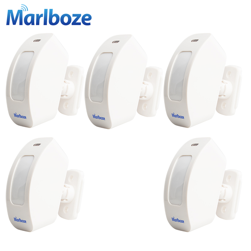 5PCS/lot Rechargeable Wireless 433MHZ Window Curtain PIR Motion Sensor Pasive Infraid Sensor for Home Alarm System forecum 433mhz wireless magnetic door window sensor alarm detector for rolling door and roller shutter home burglar alarm system