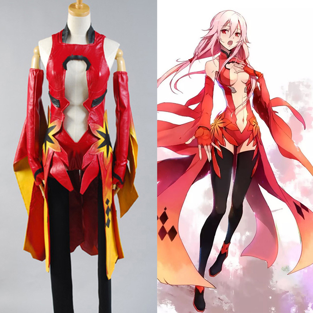 guilty crown inori yuzuriha cosplay costume for women