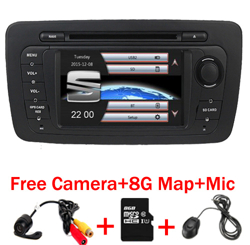 7 Touch Screen 2 Din font b Car b font DVD Player For Seat Ibiza 2009