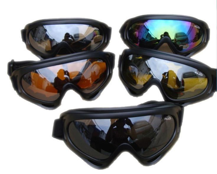 Winter Outdoor Sports White frame coloured lens Adult goggles X400 UV Protective Glasses Eyewear