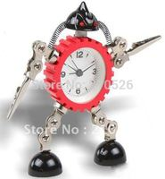 Small Size 9 3 14 2 Robot Alarm Clock Clip Hands Creative Gift Fashion Watches Gift