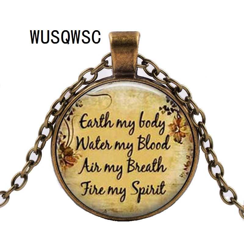 WUSQWSC 2018 New Wiccan Pendant Necklace, Pentagram Pendant Necklace