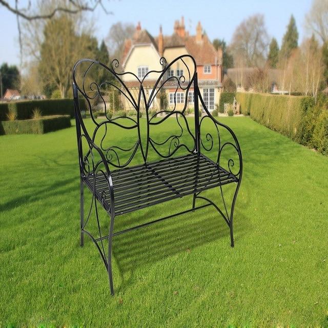 HLC metal antiguo banco de jardín al aire libre asiento doble con ...