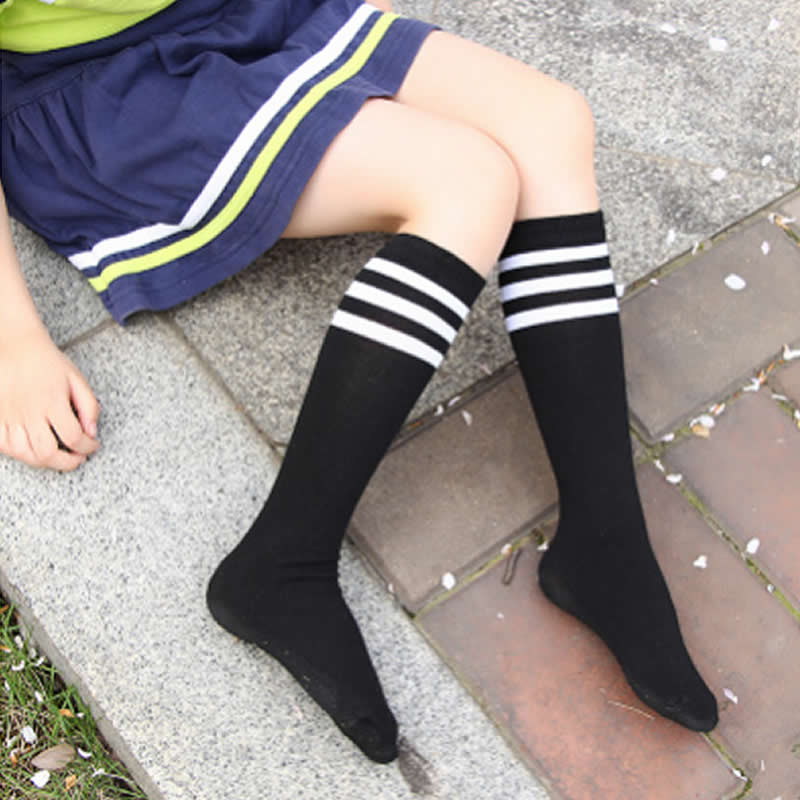 High Elasticity Girl Cotton Knee High Socks Uniform Happy Car And Bike Camper Women Tube Socks