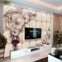 beibehang Custom Luxury jewelry flower wallpaper for bedroom walls 3d flooring photo mural wall paper living room TV background beibehang chinese rich floral pattern gold foil paper gold living room bedroom tv background works wallpaper 3d flooring