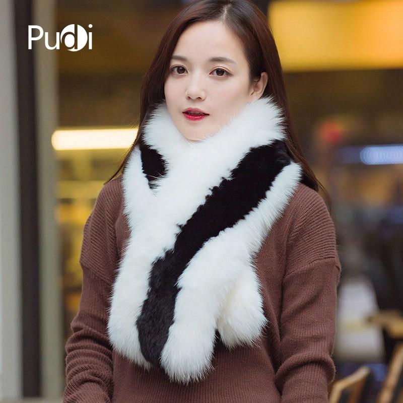 SCM068 Women real fox fur scarf  brand new genuine fox fur shawl  winter warm fox fur scarves wraps