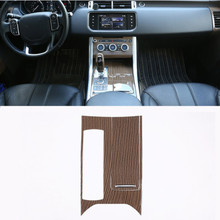 Sands Wood Grain Style ABS Plastic Center Console Panel Cover Trim For Landrover Range Rover Sport RR 2014-2017 Car Parts