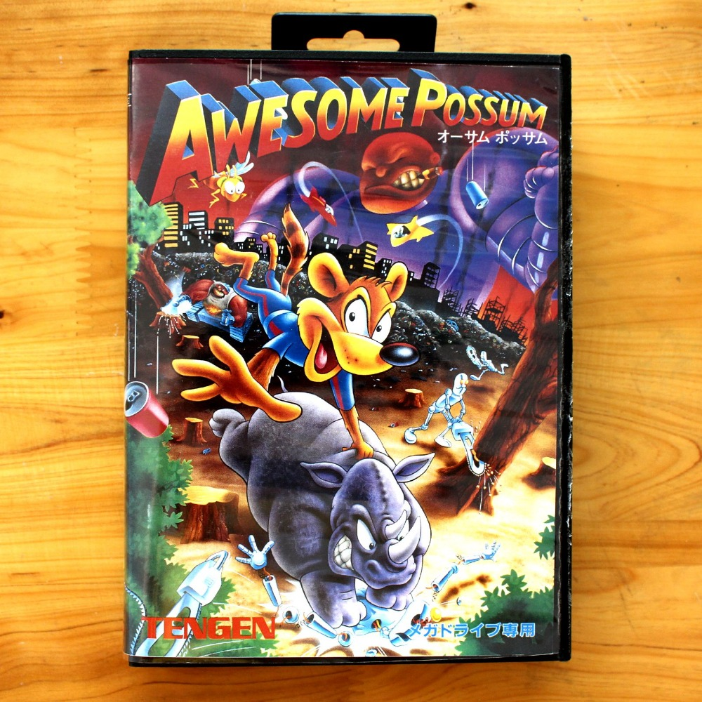 Awesome Possum 16 Bit SEGA MD Game Card With Retail Box For Sega Mega Drive For Genesis