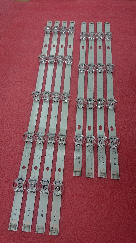 New eight Pcs/set Led Strip Alternative For Lg 47Lb6300 Innotek Drt 3.0 47 Inch A B 6916L 1715A 1716A 6916L-1961A 1962A 1948A 1949A