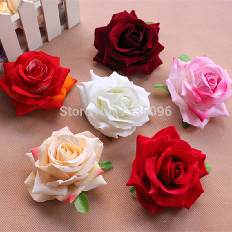 Free shipping wholesale artificial silk flower heads 43 11cm free shipping wholesale artificial silk flower heads rose flower wedding mightylinksfo