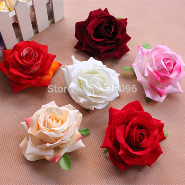 Free Shipping Wholesale Artificial Silk Flower Heads 43 11cm