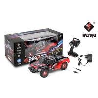 WLtoys 12423 RC 자동차 1/12 스케일 2.4 그램 전기 4WD 짧은 트럭 밝은 LED 라이트 라디오 원격 제어 자동차 모델 장난감 선물