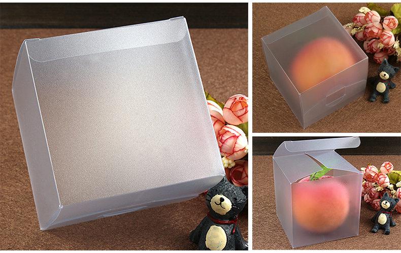 50pcs 8*8*8cm Frosted pvc box plastic clear box gift boxes for jewellery/Candy/food packaging display boxes diy cases storage